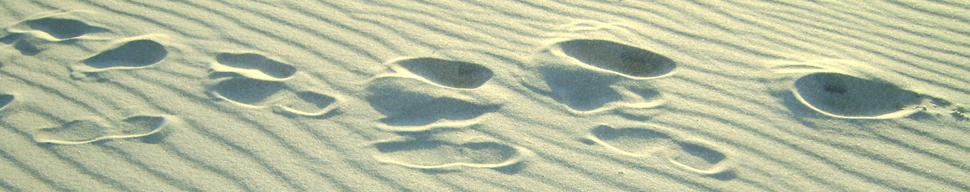 Sand Footprints Zoe Garbett